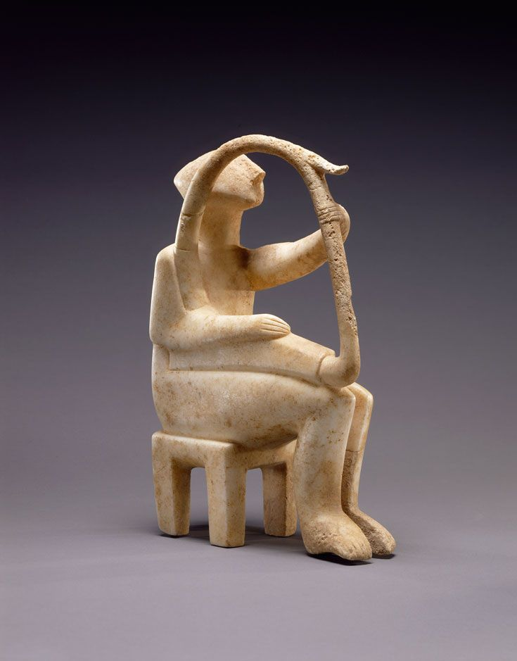 Male Harp Player of the Early Spedos type • Cycladic, 2700-2300 B.C.