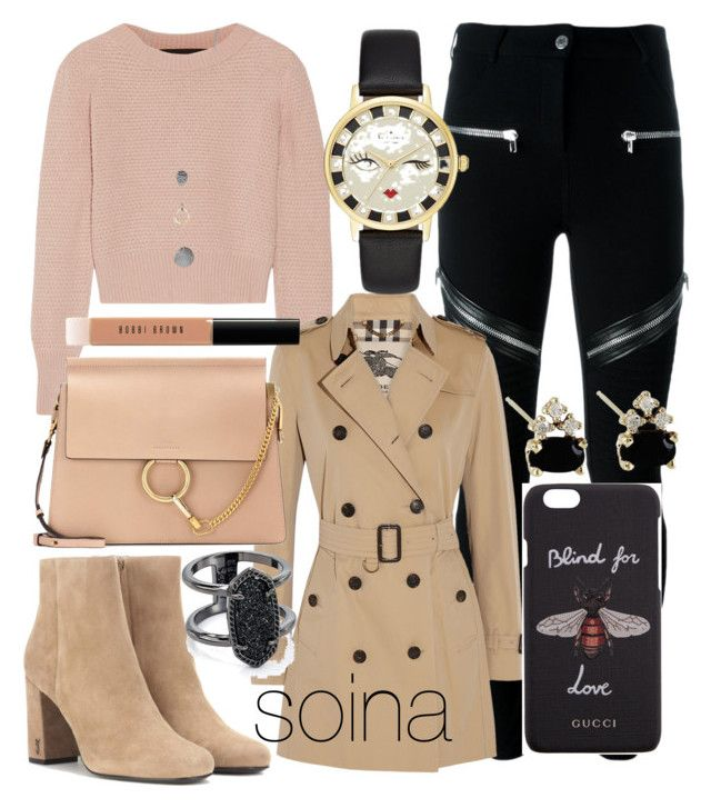 """soina"" by elena-gu on Polyvore featuring The Elder Statesman, Givenchy, Burberry, Yves Saint Laurent, Chloé, Kendra Scott, Gucci, Kate Spade and Bobbi Brown Cosmetics"
