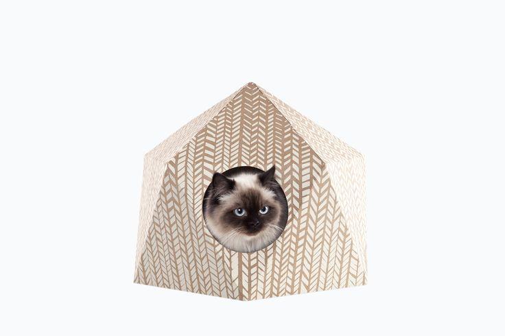 Ook je favoriete huisdier verdient een mooie woonst! De Catcube bestaat uit gelijkzijdige driehoeken met een platte bodem, 1 inkom en 2 kijk-en speelgaten. De driehoekige structuur zorgt voor een zeer stevige constructie. Het volledige huisje is van karton, omdat dit voor katten het meest favoriete materiaal om op te zitten, rollen en tegen te schuren is. De Catcube is afgewerkt met een zeefdruk van 3 verschillende patronen. Karton is ecologisch, licht en toch zeer stevig. Het wordt…
