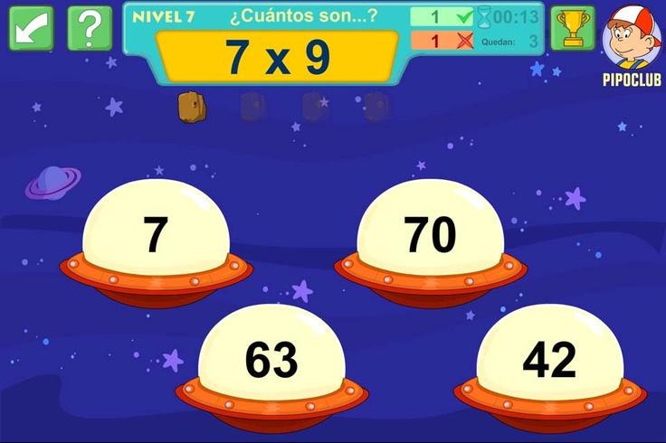 PIPO ASTROMAT: resuelve las multiplicaciones. #pipo #matematicas #educacion #profesores #repaso #aula #primaria #calculo #aritmética #operaciones