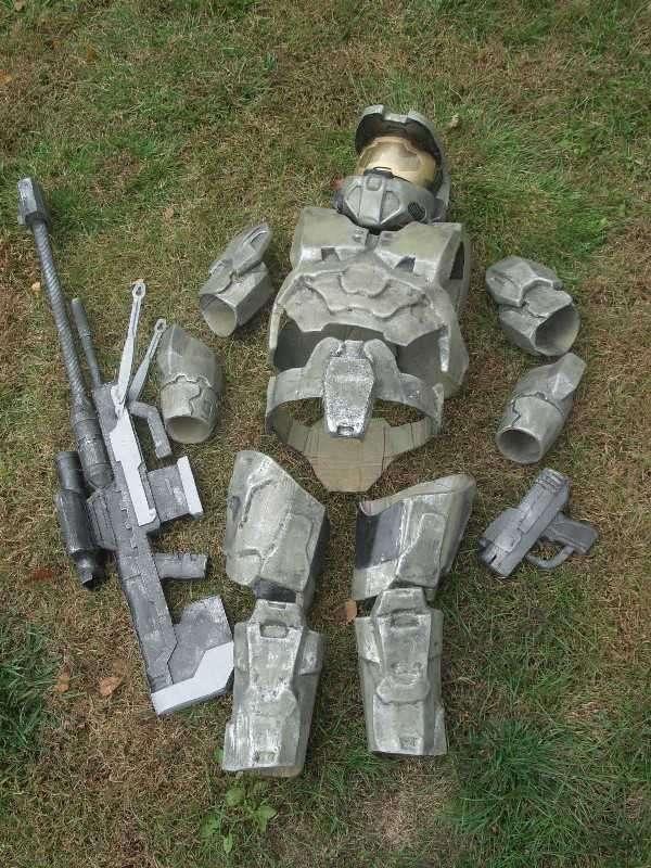 cardboardfiberglass halo 3 inspired master chief costume - Halo Reach Halloween Costume