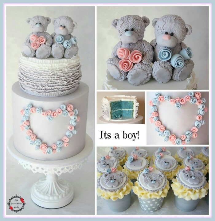 Love this as a baby reveal cake