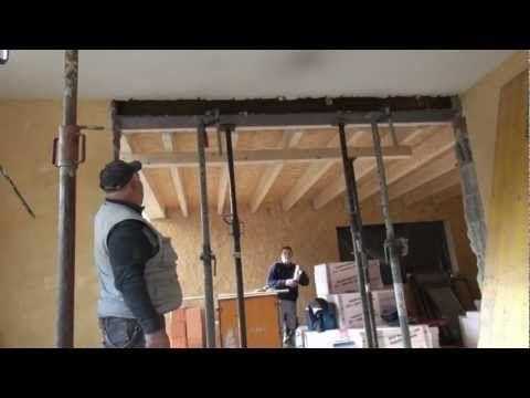 www.bauwelt-juecker.com Tragende Wand entfernen / Wanddurchbruch und Stahlträger einbauen - YouTube