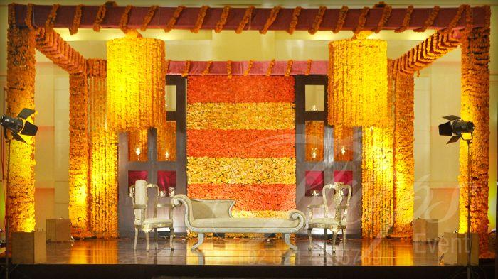 Beautiful Pakistani Wedding Mahendi Stage Decoration Designer in Lahore.  For more: www.tulipsevent.com