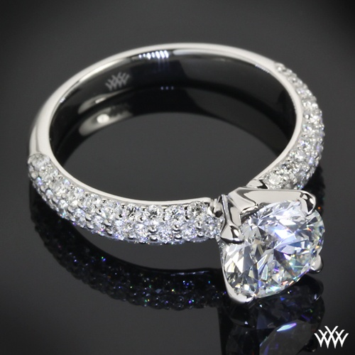 A CUT ABOVE 1.50ct Diamond set in Rounded Pave Diamond Engagement Ring