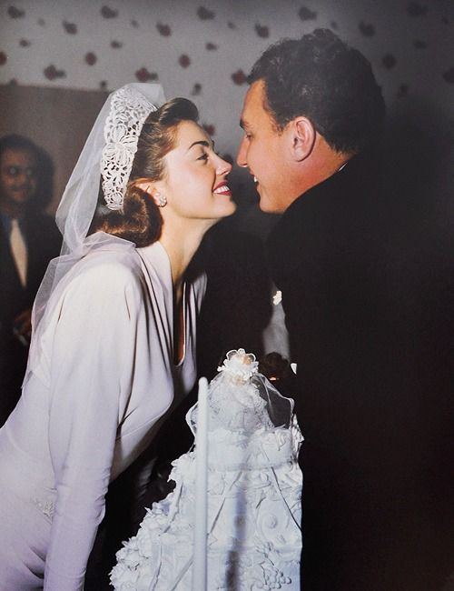 Esther Williams and Ben Gage on their wedding day in 1945