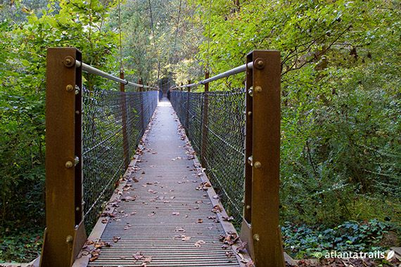 Lullwater park trails running and walking trails at for Lull water