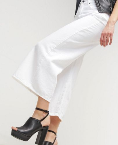 Dr.Denim LYKKE Kuloty białe Jeansy Relaxed fit white