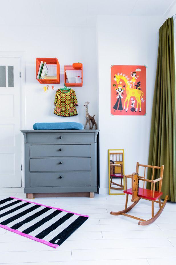 Kinderkamer retro/vintage kleurrijk childsroom colourful