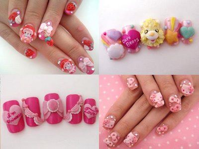 60 best diyideas 3d and regular nail art images on pinterest 3d diy 3d nail art go to drug store or beauty supply store and buy a prinsesfo Choice Image