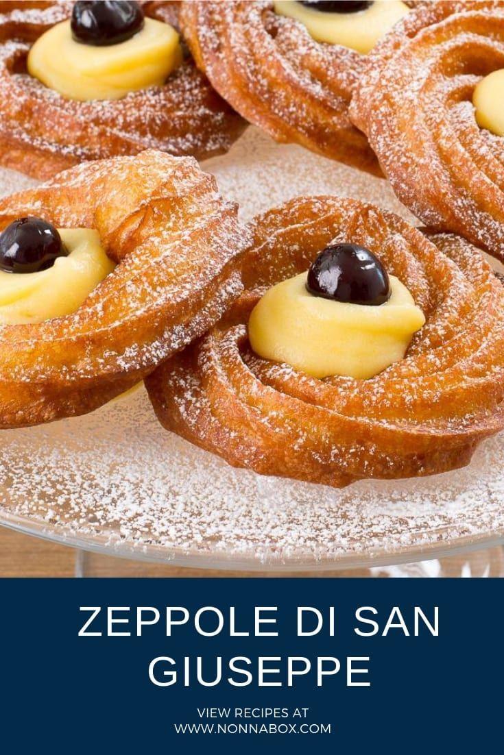 Zeppole Di San Giuseppe Traditional Italian St Joseph S Pastries Recipe Zeppole Recipe Zeppoli Recipe Italian Pastries