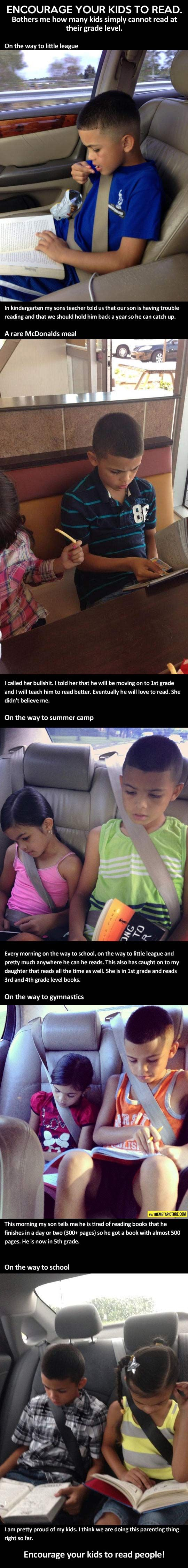 Encourage your kids to read…  #Parenting-Done-Right