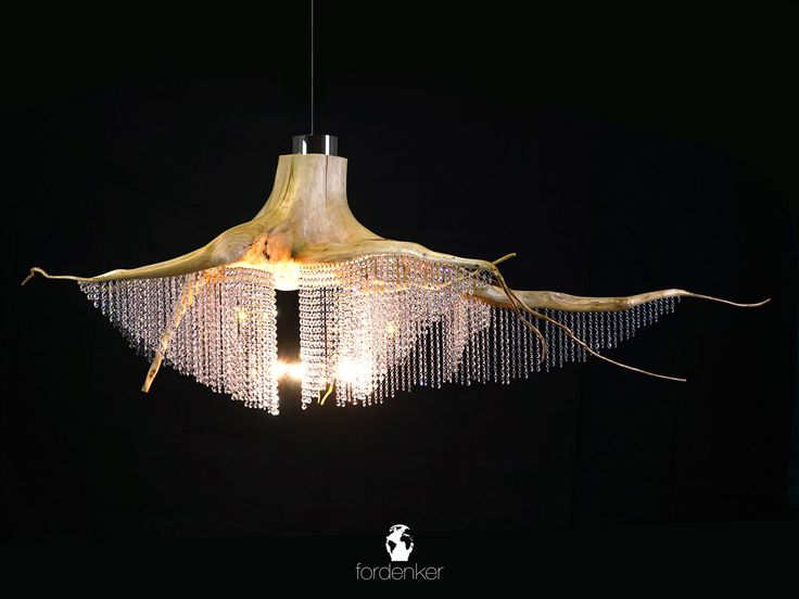We produce elaborate lighting. One of a kind, natural, atmospheric and aesthetic. Individually handcrafted with high-quality materials. #atmospheric #light #chandelier #unique #roots #art #work #craft #luxury #exclusive #oneofakind