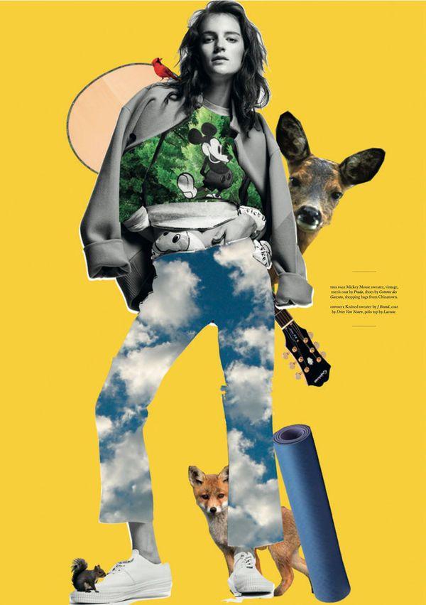 The Laura Kampman Twin Magazine Fashion Story is Pop Art Inspired #Fashion #Art trendhunter.com
