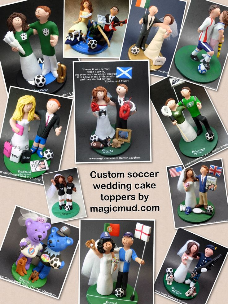 Soccer wedding cake toppers by www.magicmud.com 1 800 231 9814 magicmud@magicmud... blog.magicmud.com twitter.com/... $235 #soccer @Kelly Williams #soccerwedding #wedding #cake #toppers #custom #personalized #Groom #bride #anniversary #birthday #weddingcaketoppers #caketoppers #figurine #gift http://custom-wedding-cake-toppers.tumblr.com/ http://instagram.com/weddingcaketoppers https://www.facebook.com/PersonalizedWeddingCakeToppers https://twitter.com/caketoppers