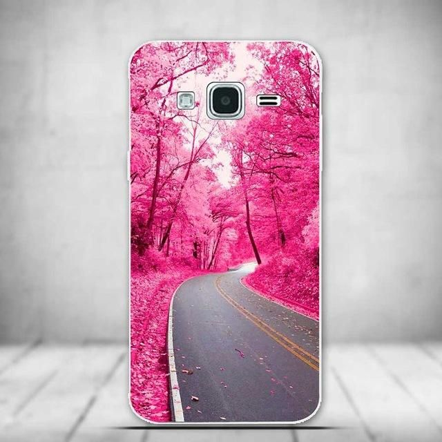 Luxury Cartoon Tree Case Silicone Cover Case for coque Samsung Galaxy J3 2016 Case Silicone Cover J320 J320F