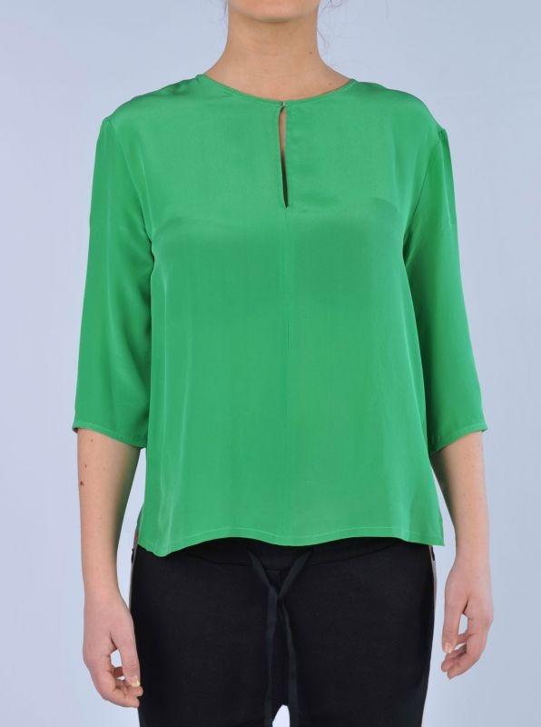 JUCCA - Blusa verde   Di Pierro  http://www.dipierrobrandstore.it/product/2489/Blusa-verde.html