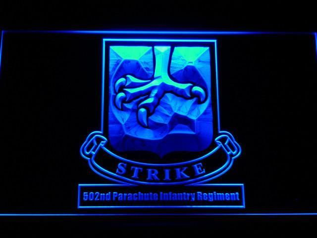 US Army 502nd Parachute Infantry Regiment LED Neon Sign