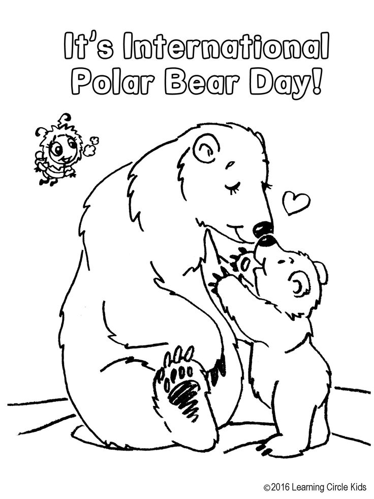 Reader Bee Games free coloring page of Polar Bears. http