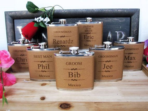 Gifts For Girls On Wedding: 1000+ Ideas About Groomsmen Flask On Pinterest