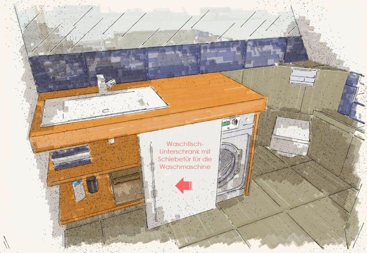 WaschmaschineunterWaschtisch  Badezimmerideen