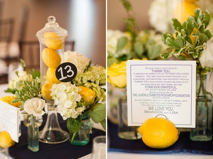 @Kimberly Harrod wanna do something like on the right for the tables?  southern-lemon-and-lime-wedding_478