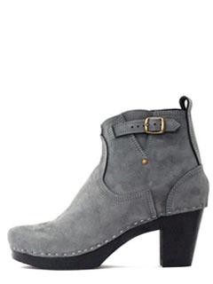 No.6 High Heel Buckle Boot in elephant.