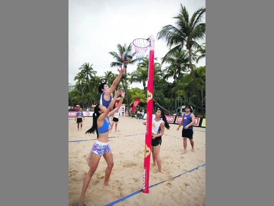 Singapore Mission Foods Beach Netball Festival will be held at Sentosa's Siloso Beach on Sunday, participants and spectators can soak in the fun by participating in the numerous fringe activities, such as photo booths where they can pose with their friends, and stand to win prizes.    There will also be music and giveaways, including Mission Foods chips and Red Bull, and discounted buys, such as sunscreen from Banana Boat.