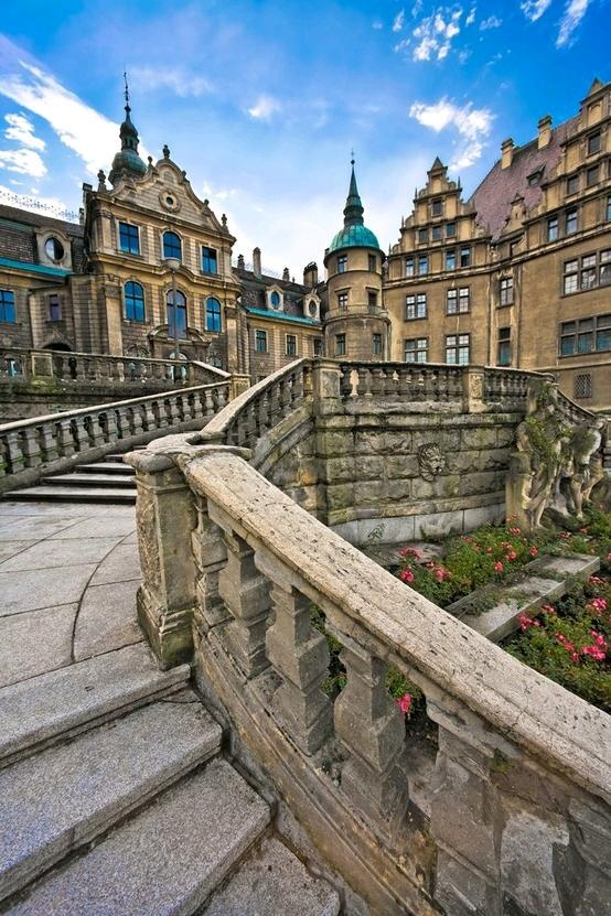 Moszna Palace (Poland) ~ This Castle offers overnight accommodations. http://www.moszna-zamek.pl/