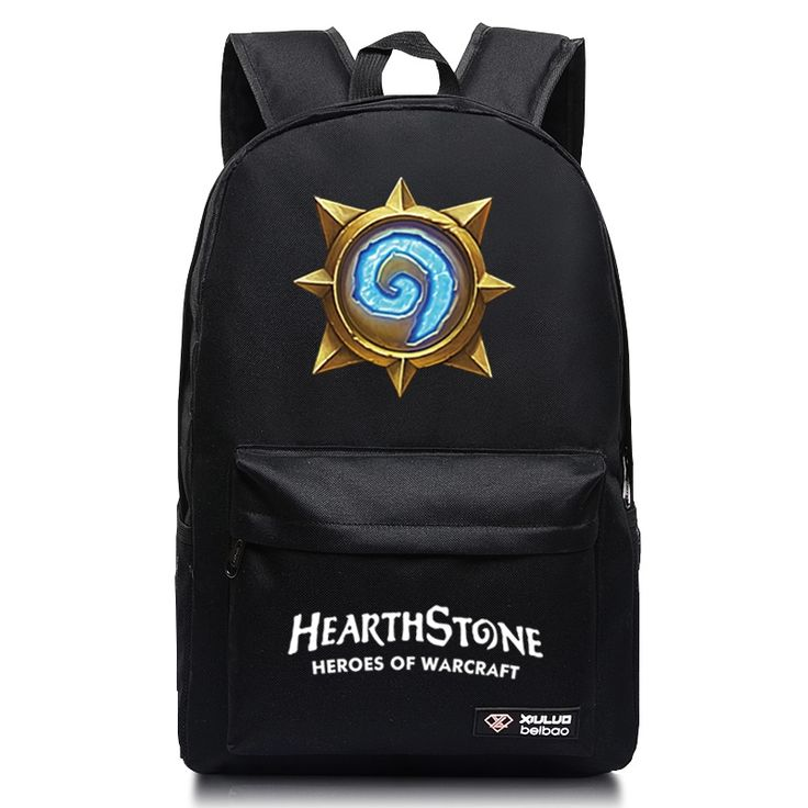 (26.68$)  Watch more here  - New Fashion Hearthstone Canvas Backpack Boy Girl School Bags For Teenagers Casual Warcraft Game Daily Laptop Backpack