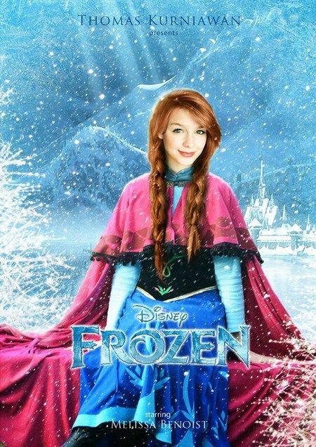 Frozen dengan  Melissa Benoist  sebagai pemeran Anna. Cocok?