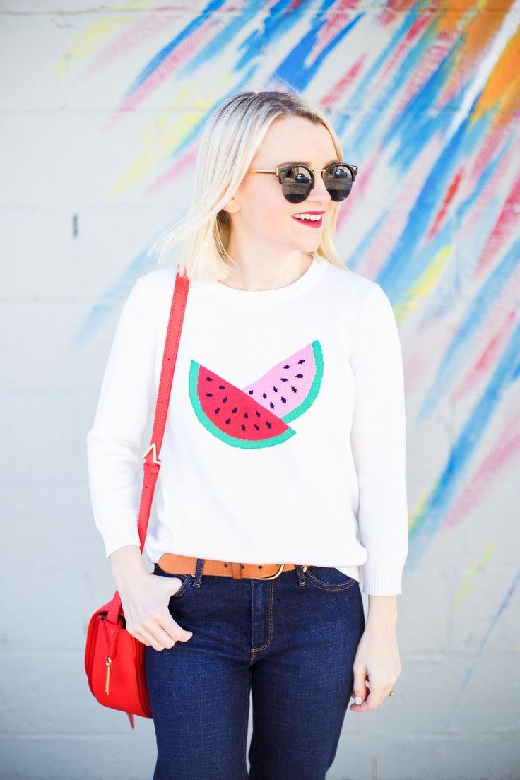 Draper James Watermelon Sweater - Poor Little It Girl