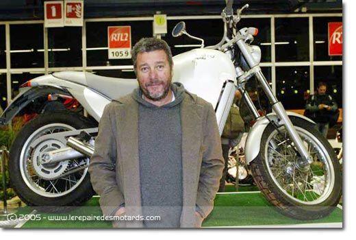 Philippe Starck au Salon Moto Légende, au Parc Floral de Paris