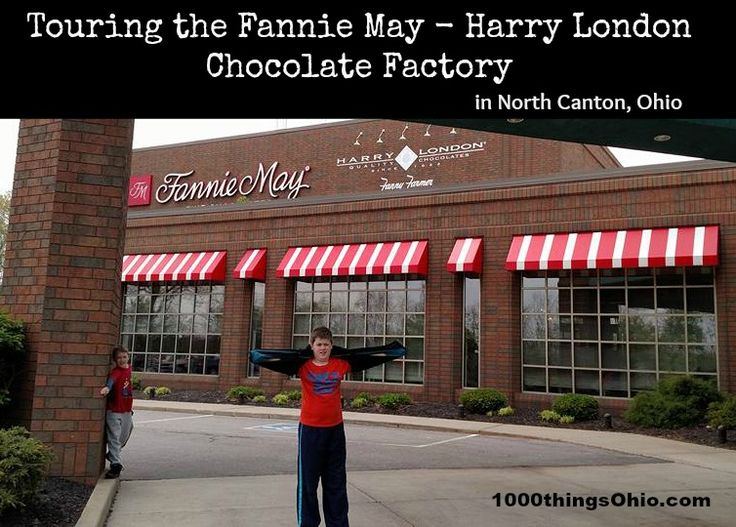 Free chocolate tour at Fannie May - Harry London chocolate factory in North Canton, Ohio