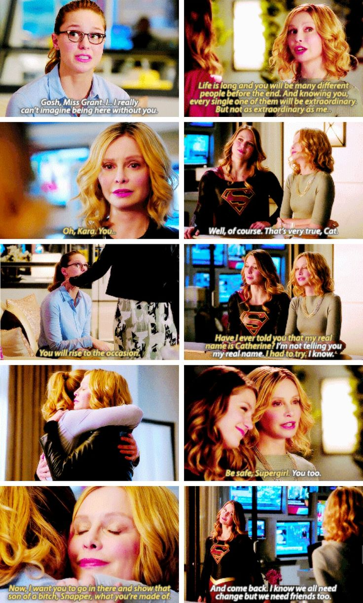 """""""I'm leaving... I've just been swimming in the same pool for too long. There are new seas out there that I have to go conquer. I need to dive in. Oh, but I'll be back."""" #Supergirl #Season2 #2x02"""