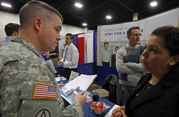 Issues related to recent veterans trying to get employment.  http://www.washingtonpost.com/blogs/wonkblog/wp/2013/11/11/recent-veterans-are-still-experiencing-double-digit-unemployment/