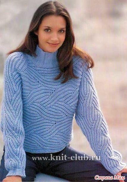 . Объемный пуловер в технике бриошь - Вязание - Страна Мам