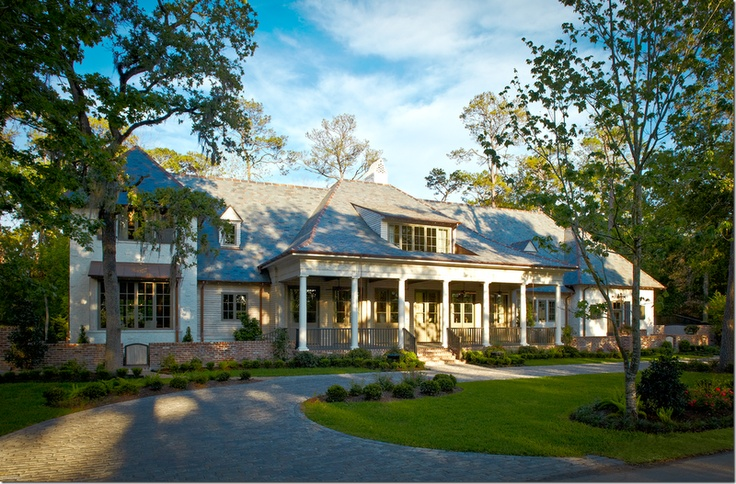 Traditional Southern Acadian House By Robert Dame Designs