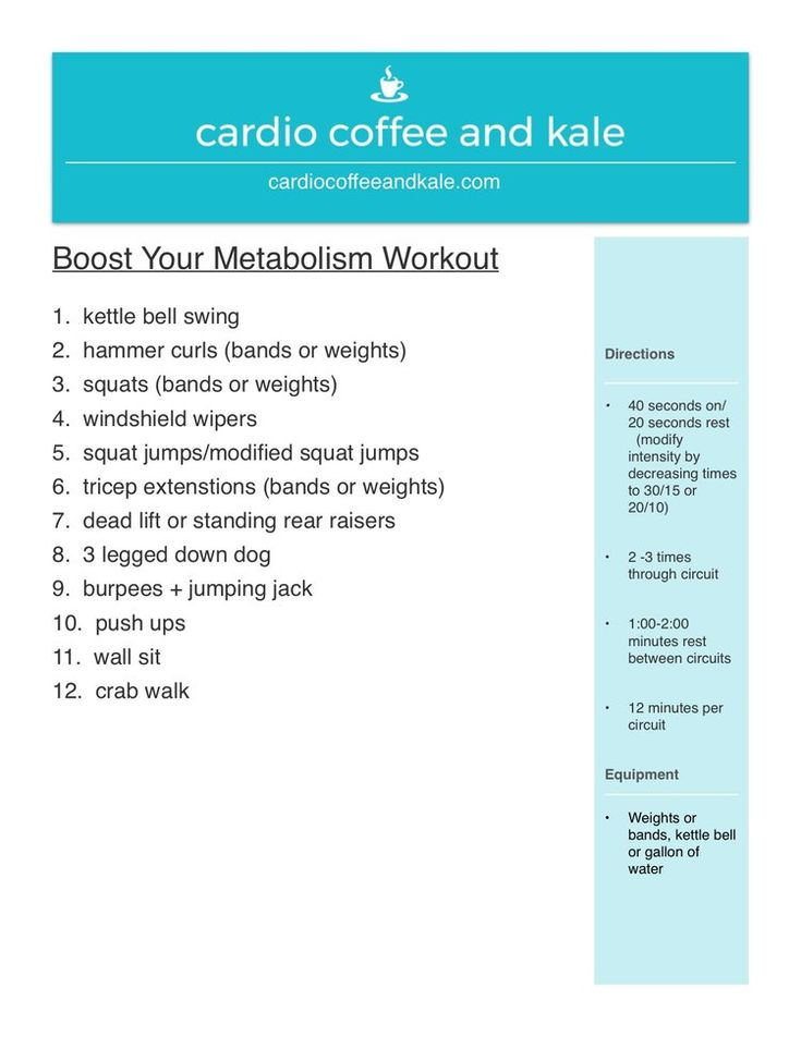 Blast Fat and Burn Calories Full Body Circuit — cardio coffee and kale