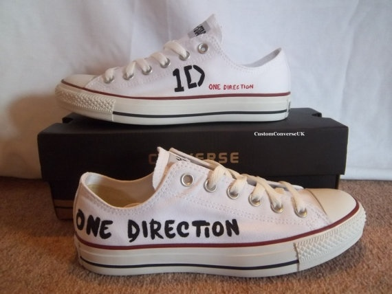 One Direction Lowtop Converse by CustomConverseUK on Etsy, £70.00        JUST FOR YOUR ASHLEIGH!!!