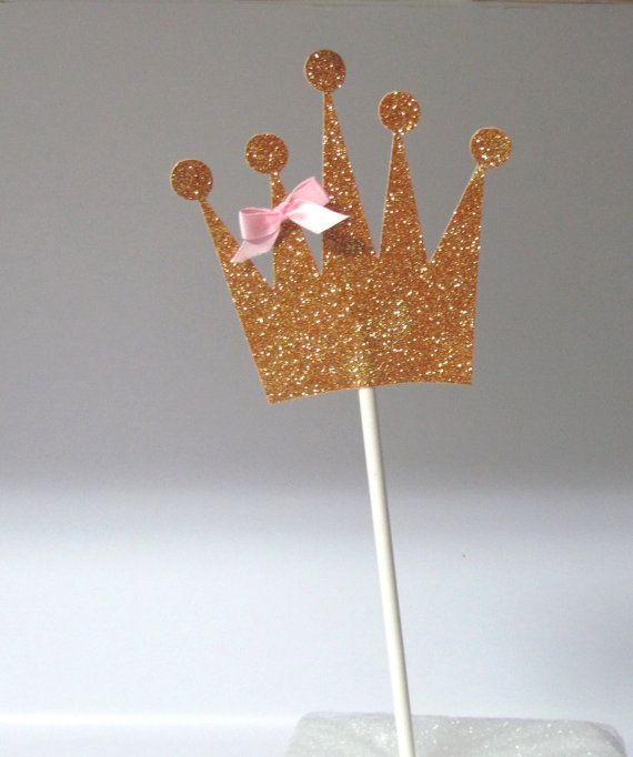 Set of glitter gold or silver centerpiece sticks tiara