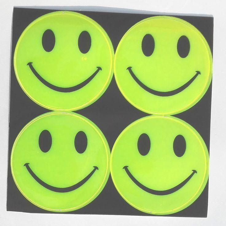 13 model, 1 sheet(4pcs),6.50CM Reflective safety sticker smile face for motorcycle,bicycle,kids toy,any where for visible safety -- Chtoby prosmotret' dal'she po etomu punktu, pereydite po sleduyushchey ssylke izobrazheniya.