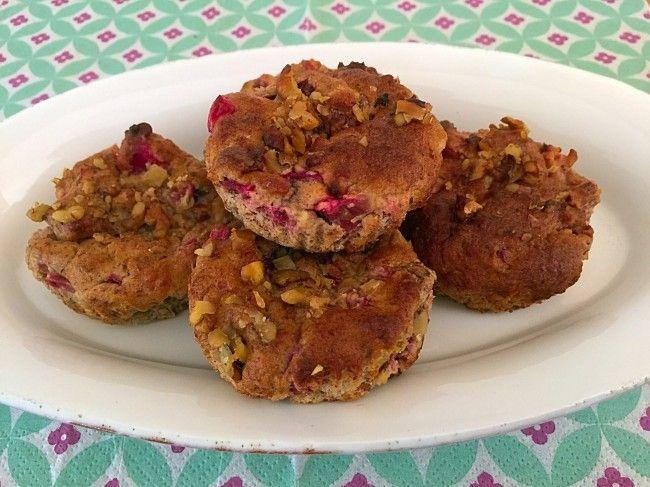 Rabarber muffins uden mel og sukker