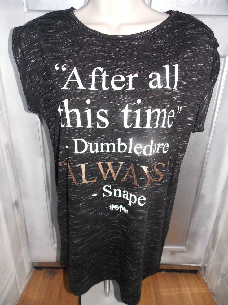 Harry Potter Severus Snape Alan Rickman Albus Dumbledore Quote T-shirt Harry Potter Hogwarts Shirt on sale now at KAREN8KAREN8 ebay store!
