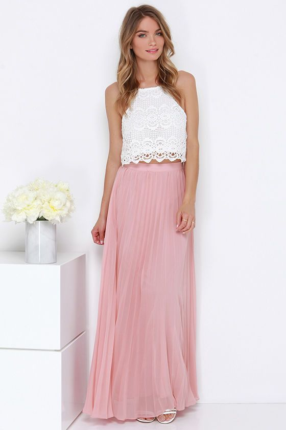 17 Best ideas about Pleated Maxi Skirts on Pinterest   Style ...
