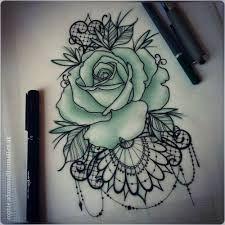 Bilderesultat for rose lace tattoo