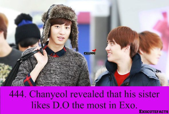 Exo Facts. D.O on Chsnyeol Fact haha  [credits to photo owner]
