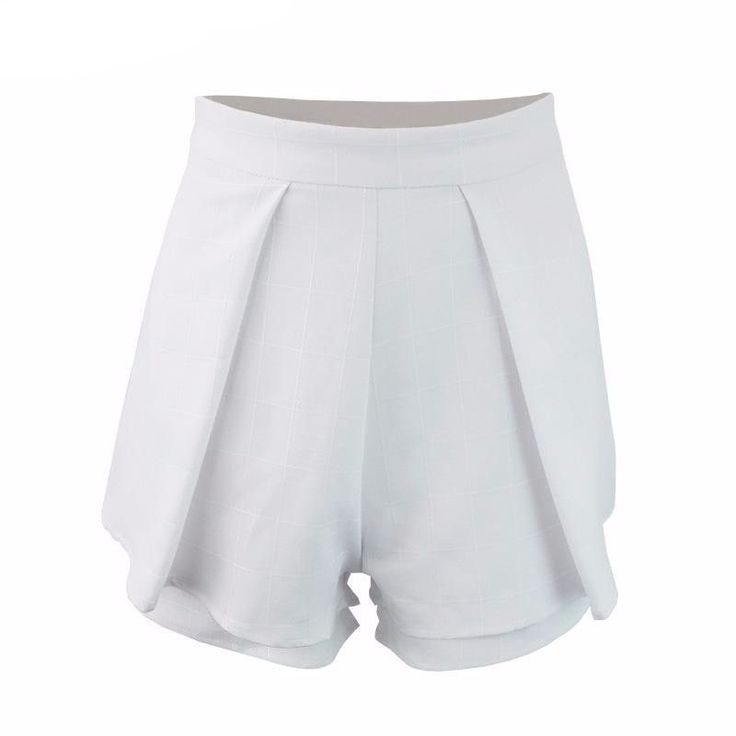 Boho pleated white chiffon sport shorts women Summer style high waist sexy fitness nude shorts Beach black girls shorts skirts