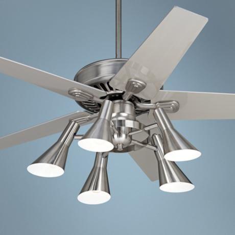 """52"""" Windstar II Brushed Steel with Silver Ceiling Fan"""