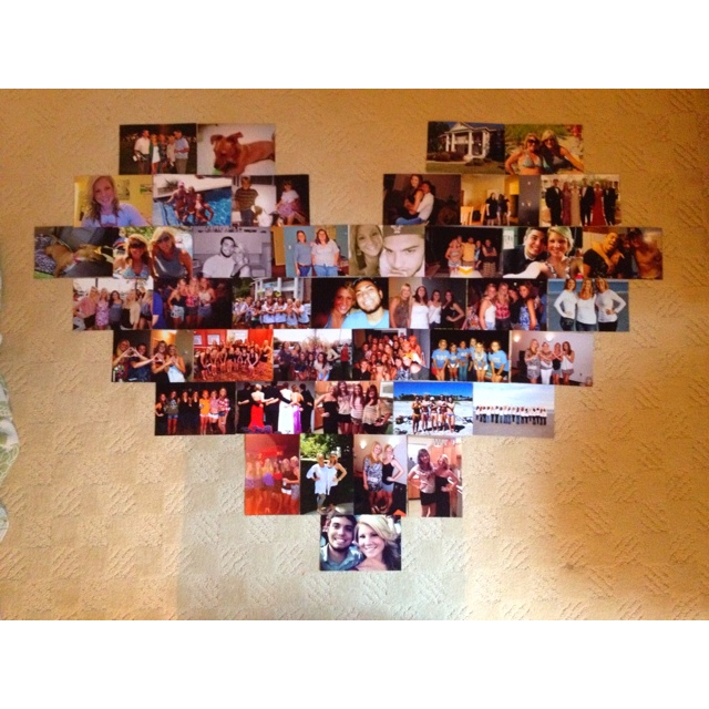 My heart picture collage! Now just have to put it up on the wall :)